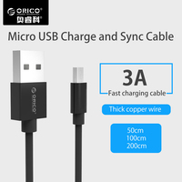 ORICO Micro USB Cable 2 0A Fast Charging USB Data Charger Cable Mobile Phone Cable For