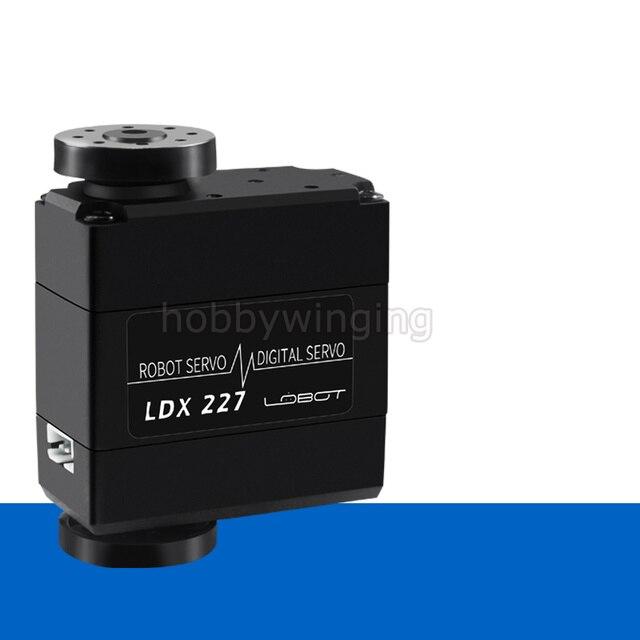 2 pcs/lot 270 degré 15kg/17kg LDX-227 Servo numérique Biaxial engrenage en métal à couple élevé pour Robot bras mécanique manipulateur Android