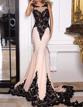 Elegant Mermaid Evening Dress 2019 Arabic Evening Gowns Dresses robe de soiree longue Formal Evening Gowns Dresses