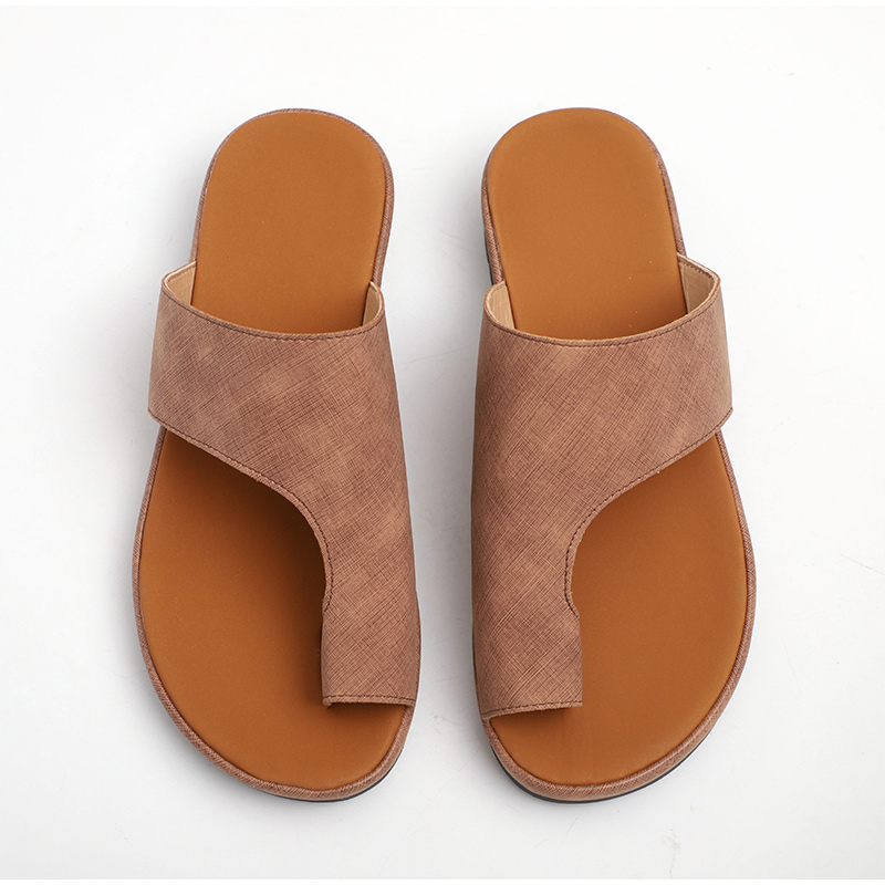 HTB12HLJaEGF3KVjSZFvq6z nXXa2 MCCKLE Women Comfy Plain Shoes Flat Platform Ladies Casual Big Toe Foot Correction Sandals Orthopedic Bunion Corrector Flip Flop