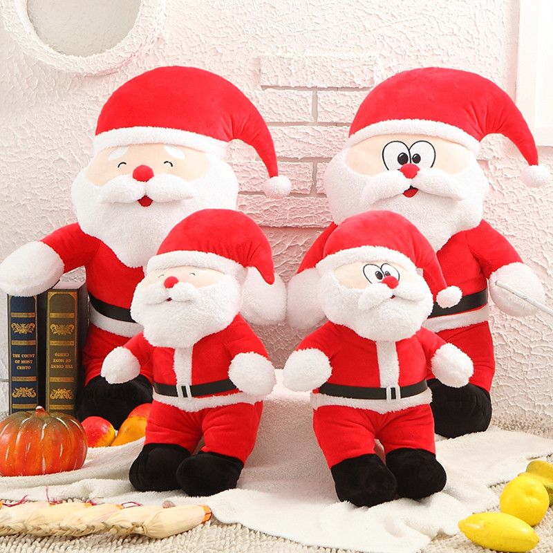 New Arrival One Piece Christmas Lovely Santa Claus Brinquedos Cotton Stuffed Toys Super Soft <font><b>Dolls</b></font> Friends Festival Gifts 2 Size image