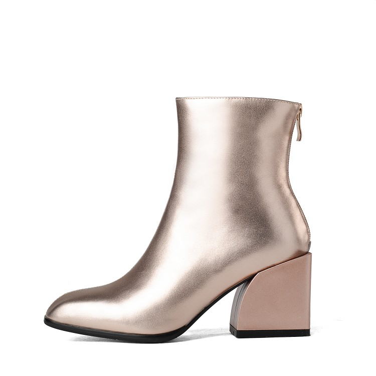 Original Intention New Stylish Women Ankle Boots Real Leather Square Toe Square Heels Boots 4 Colors Shoes Woman US Size 4-8.5 mcintosh mc2kw
