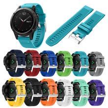 Remplacement Silicagel Intelligente Bracelet Bracelet Dragonne Pour Garmin Fenix 5 GPS Jun21 Professionnel Drop Shipping