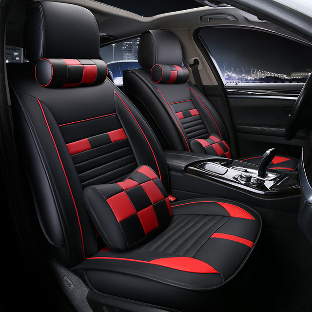 Universal car seat cover seats covers leather for BMW X4 F26 X5 E70