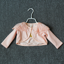 2018 spring summer autumn baby girls jacket children baby child infant baby shawl short coat outerwear cheap Outerwear Coats Jackets Solid Fashion DouXiong Kids Worsted COTTON Fits true to size take your normal size O-Neck Full