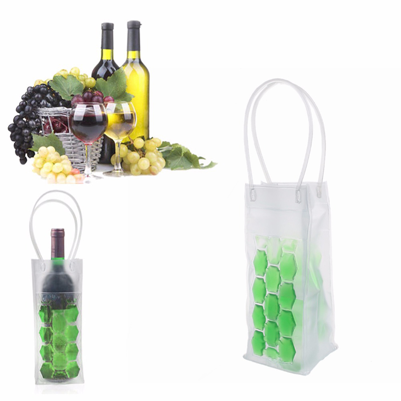 Rapid Ice Wine Cooler Bag PVC Beer Cooler Bag Ice Gel Bag Picnic CoolSacks Wine Cooler Chillers