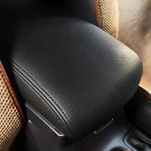 Car Center Control Armrest Box Microfiber Leather Trim Cover For Toyota RAV4 rav 4 2016 2017 2018
