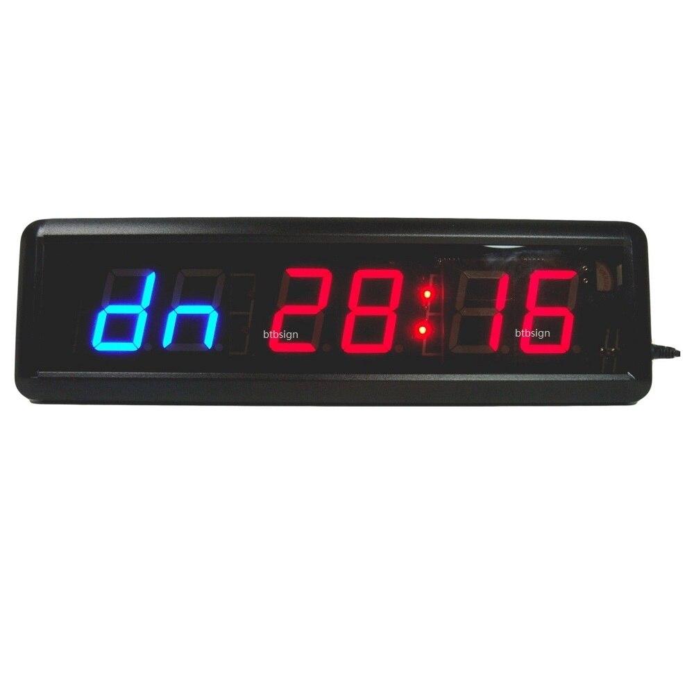 Digits led countdown clock workout timer for garage