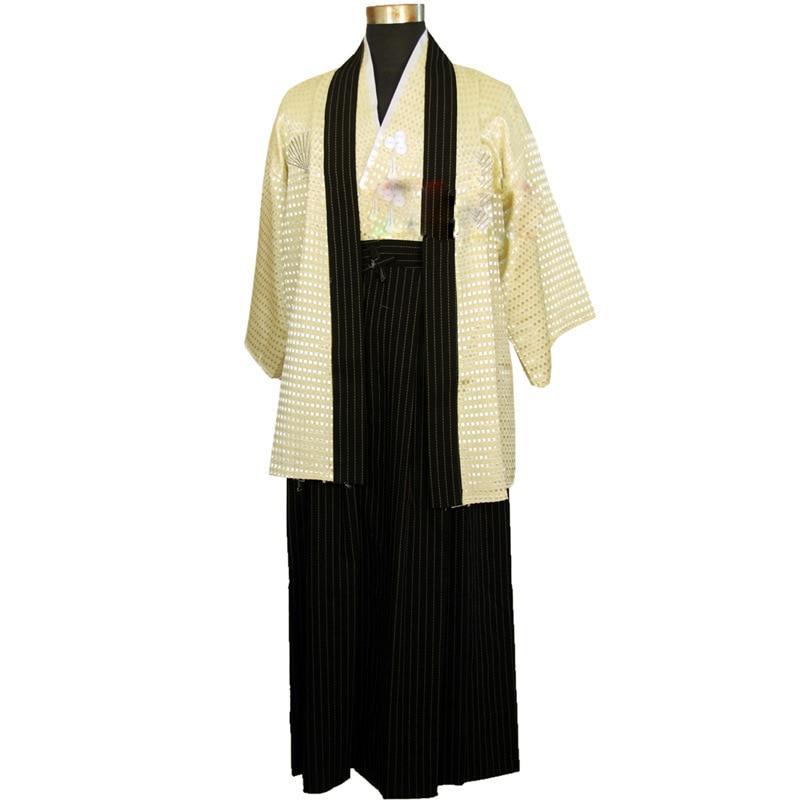 Free shipping Traditional Japanese Men Kimono Samurai Outfit japanese kimono men fancy Outfit ...