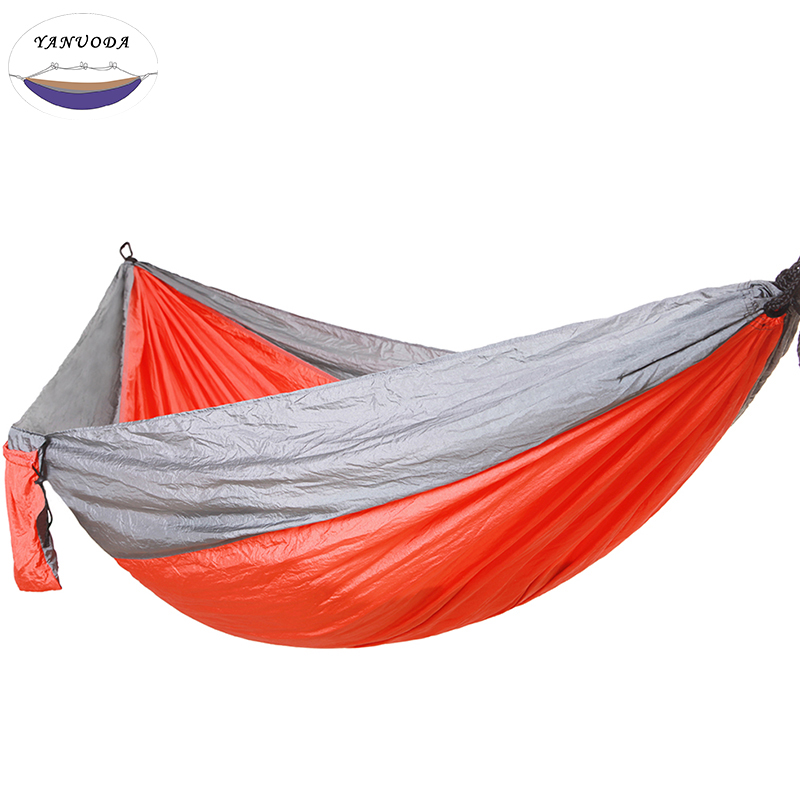 Portable Hammock Double Person Camping Survival Garden Swing Hunting Hanging Sleeping Chair Travel Furniture Parachute Hammocks Camping & Hiking