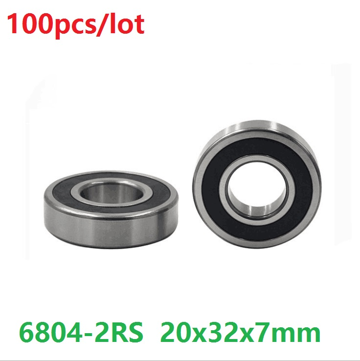 20x32x7 mm Stainless Steel Hybrid Ceramic Bearings 20*32*7 2 PCS S6804-2RS