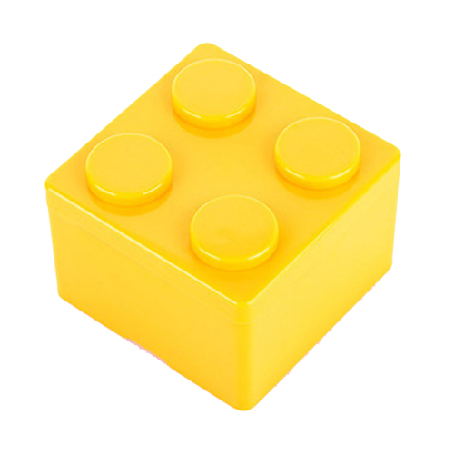 1 шт. Building Block формы пластиковые Экономия пространства коробка для хранения накладывается Desktop удобный офис дом сохраняя канцелярские
