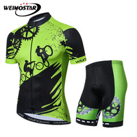 Weimostar Bike Team Cycling Clothing Men Summer Uniform Cycling Jersey Set Breathable MTB Bicycle Wear Clothes Maillot Ciclismo