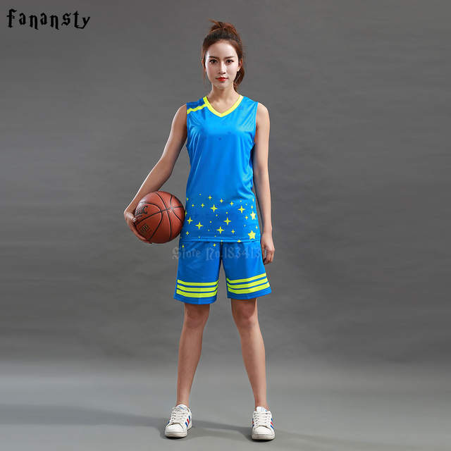 065eb7281 Online Shop Women s Basketball Jerseys Uniforms Girls Custom Team  Basketball suits Student Sets Customized Kits Sportswear New Arrival 2018
