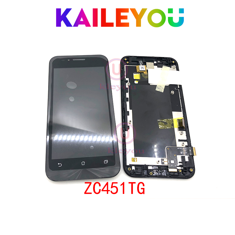 4.5'' Tested For ASUS Zenfone Go ZC451TG Touch screen Digitizer LCD Display Panel Assembly Replacement Parts For ZC451TG Parts