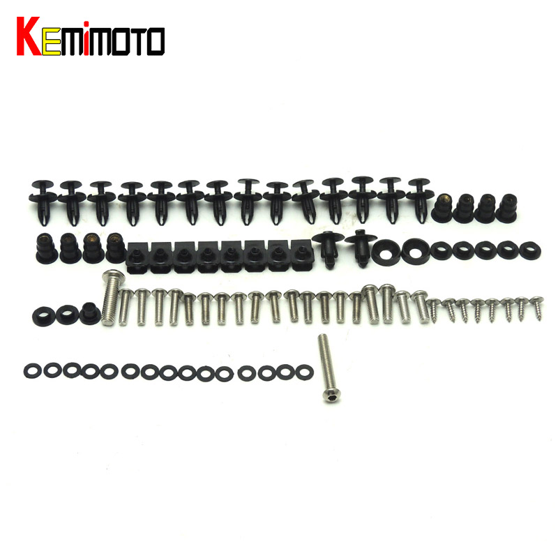 KEMiMOTO For Suzuki GSXR Motorcycle Fairing Bolt Screw Fastener Nut Washer For Suzuki GSX-R600 GSX-R750 2011 2012 2013 2014