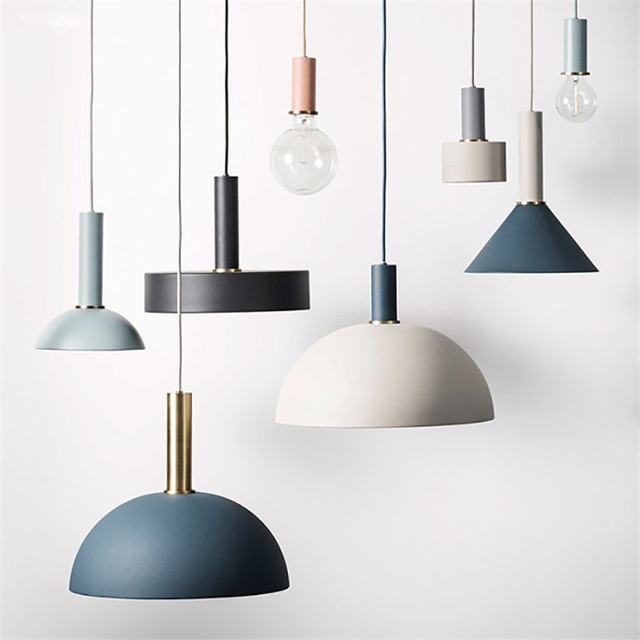 Nordic macarons restaurant pendant lights dining room post modern nordic macarons restaurant pendant lights dining room post modern bar lamps danish loft industrial style mozeypictures Image collections