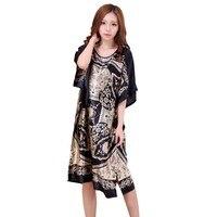 Халат летний цветочный халат, Женская одежда для сна ночная рубашка дома банный халат Ночное платье сексуальное ночное белье Ночная рубашк...
