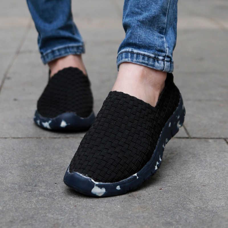 Женская Повседневная обувь; коллекция 2019 года; летняя тканая обувь ручной работы; лучшее качество; дышащая модная удобная женская обувь на плоской подошве; женские лоферы