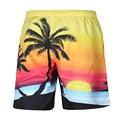 Unisex Seaside Swimwear Board Shorts Men 3D Coqueiro Calções Homem Bermuda shorts Da Praia Do Sol Nascer Do Sol