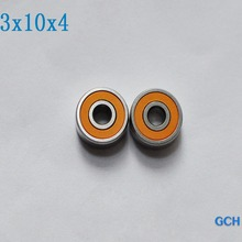 3X10X4 2 шт. S623 2OS CB ABEC7 гибридная керамическая Рыболовная катушка из нержавеющей стали подшипники производитель gch