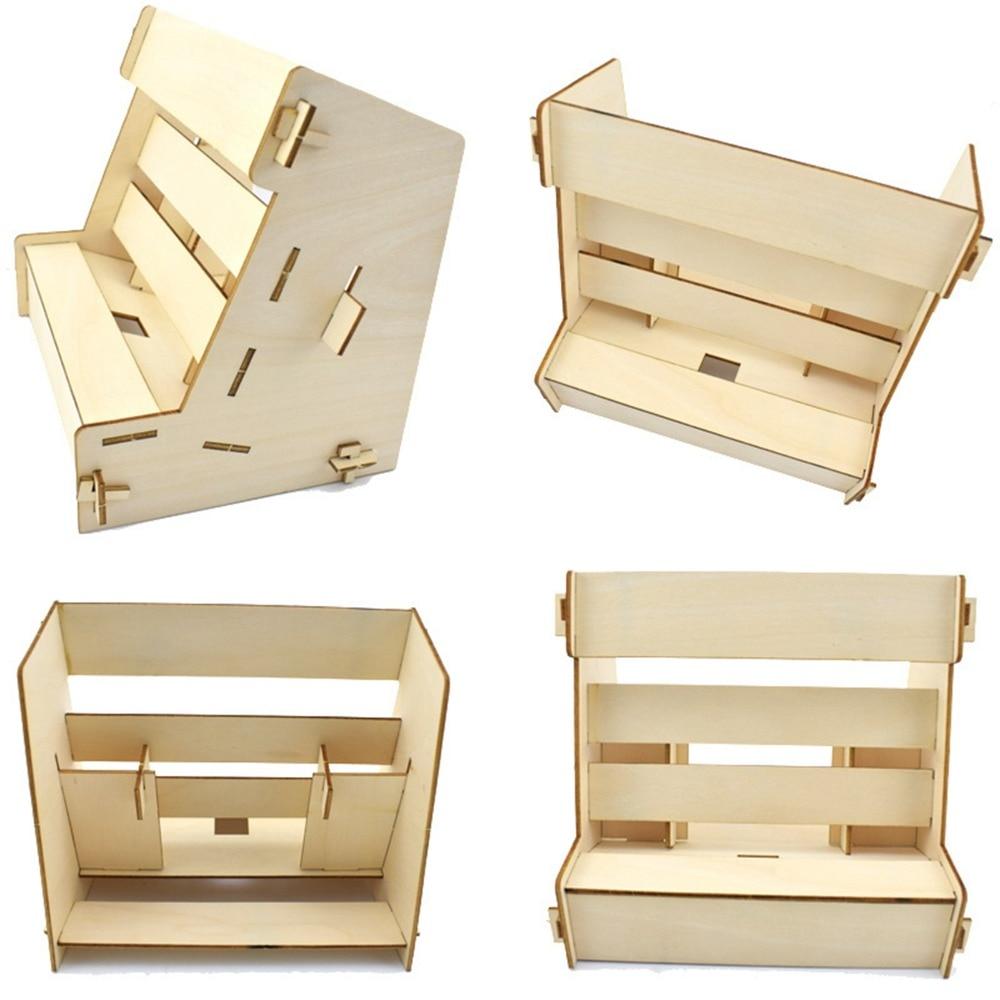 XBERSTAR DIY Retro Cabinet Stand holder for Nintendo Switch NS NX Detachable wooden Brac ...