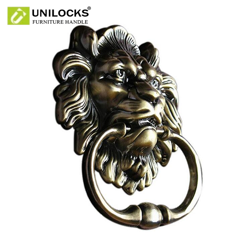 UNILOCKS Antique Lion Door Knocker Lionhead Doorknockers Lions Home Decor Including Screws