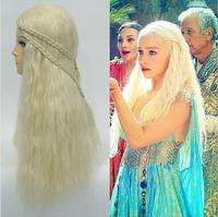 Daenerys Targaryen Dragon Princess Light Gold Wig Game Of Thrones Braids Cosplay Wigs Costume Halloween Cosplay