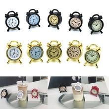 1:12 Miniature Alarm Clock Model Alloy Vintage Clocks Dollhouse Decoration Accessories YJS Dropship цена в Москве и Питере