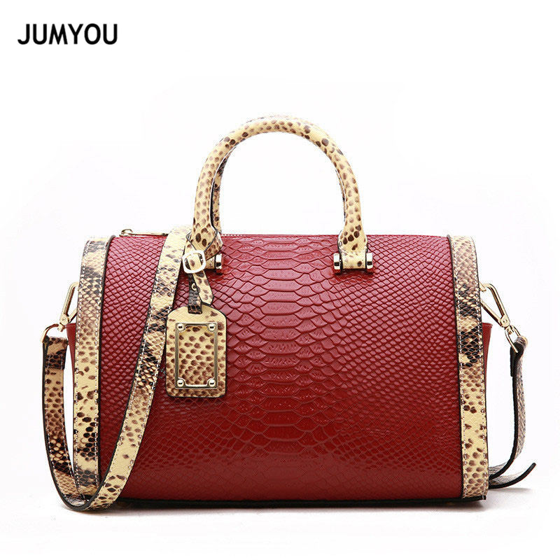 Women Crossbody bags Split Leather Boston Fashion Red Wine Shoulder Bags For Ladies Handbags Bags For Girls mochilas mujer 2018 Women Crossbody bags Split Leather Boston Fashion Red Wine Shoulder Bags For Ladies Handbags Bags For Girls mochilas mujer 2018