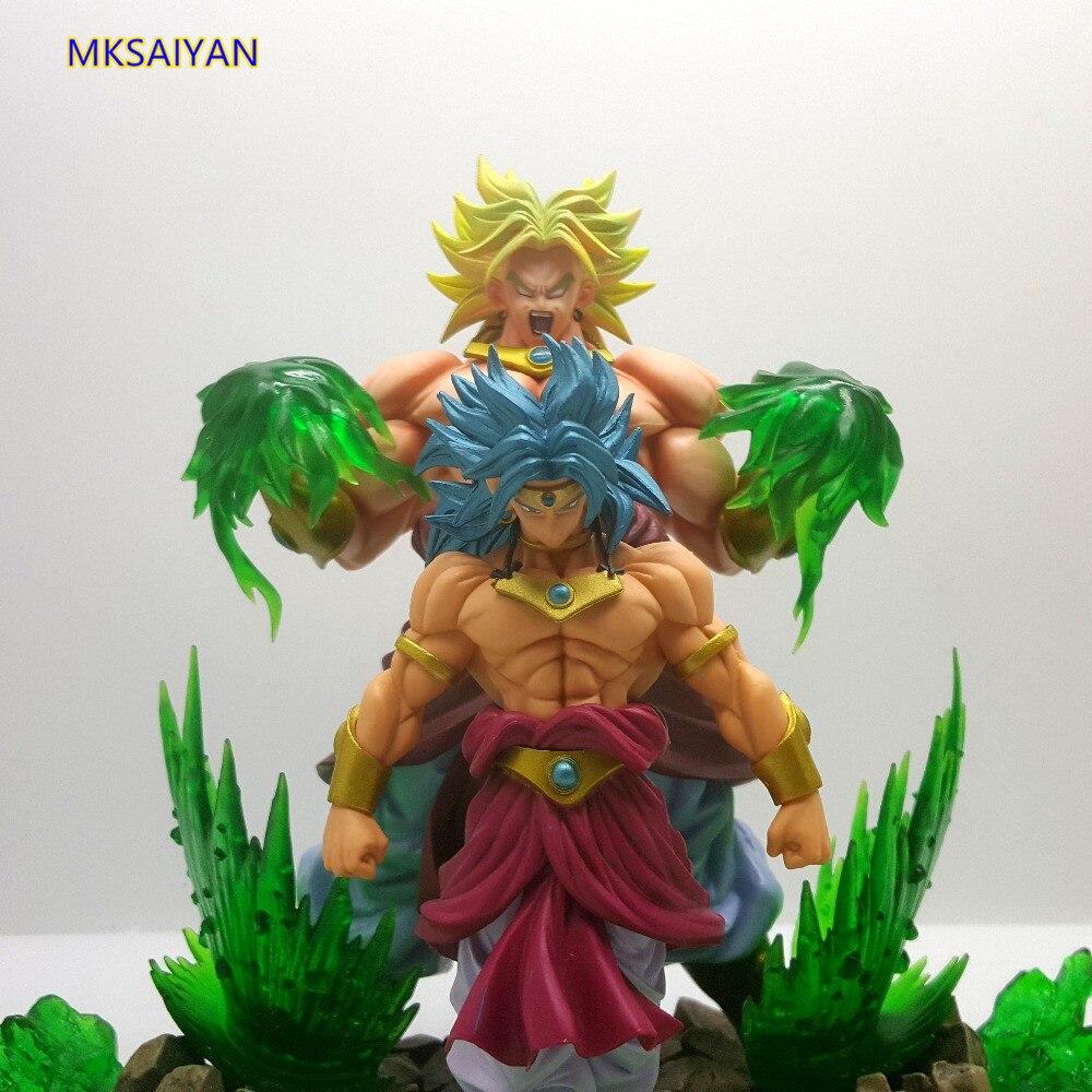 Dragon Ball Z фигурка Broly Super Saiyan аниме игрушки супер Гоку Статуэтка из ПВХ горячее коллекционное украшение модель куклы подарок XM - 4