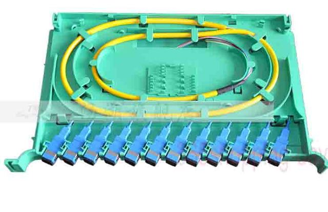 12 port ODF FIBER OPTIC PATCH PANEL with Pigtail Cables,Connectors