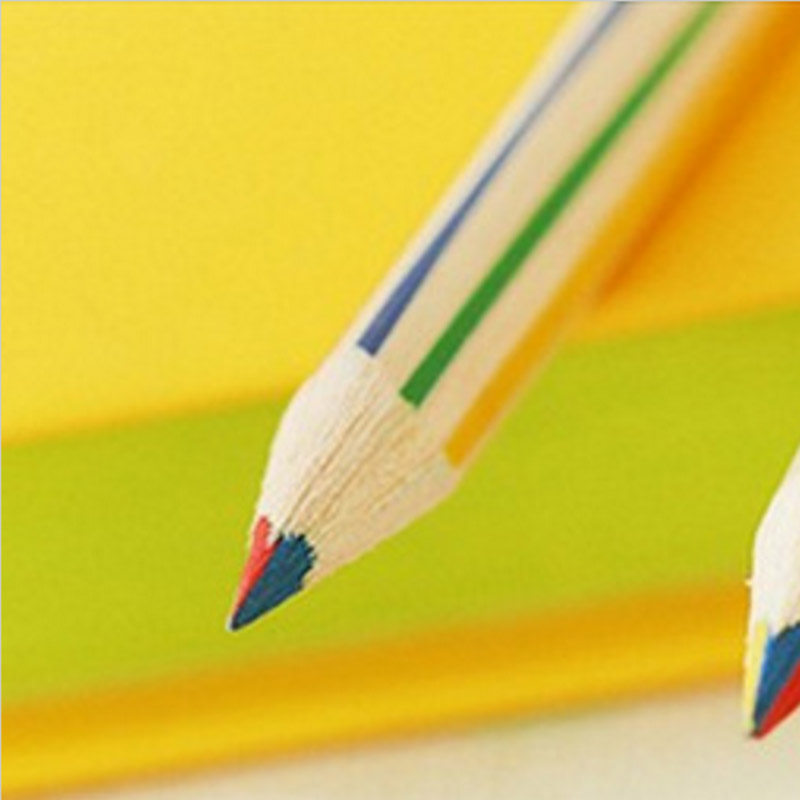Student DIY Cute Wooden Pencil Kawaii Rainbow Colored Standard Pencils for Kid Gift School Supplies 5006