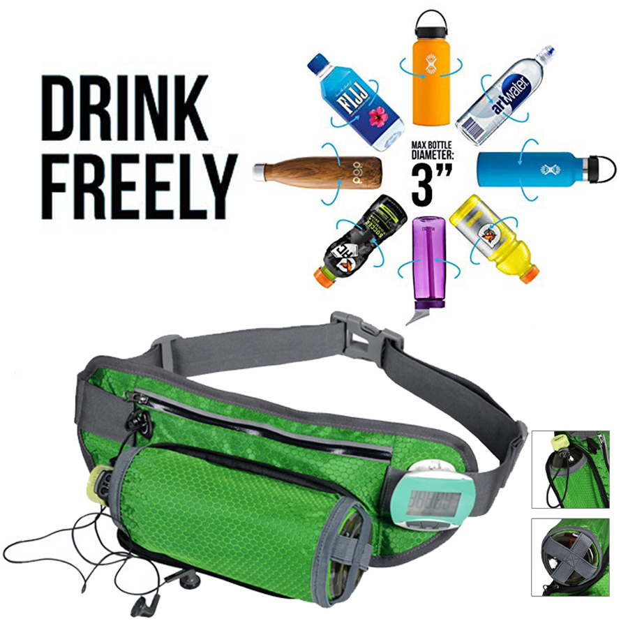 Relojes Y Joyas Guguluza Running Bags Waist With Water Bottle For Man & Women Outdoor Camping Hiking Fitness Gym Lightweight Belt Bag