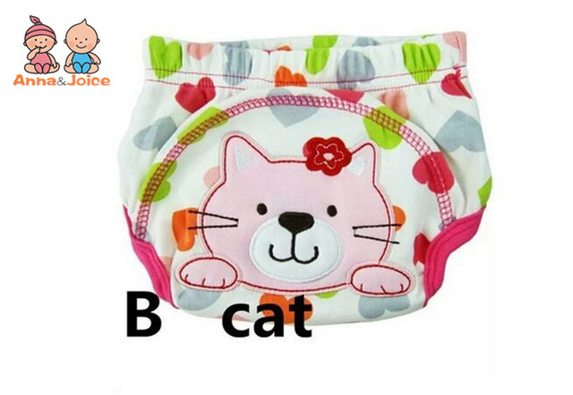 4pc/lot Pink Series Waterproof Baby Girls Potty Training Pant Infant Underwear Panties Newborn Underclothing suit 6 to 10kg 1