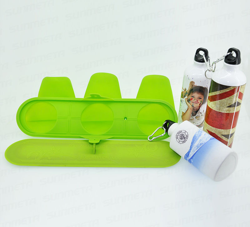 FREE SHIPPING 3D Silicone Fixture Clamp Mould for Sports Bottle Kettle Mug Sublimation Transfer Printing контейнер для хранения idea цвет оранжевый прозрачный 10 л