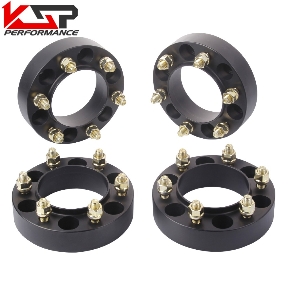 KSP(4)  1.5'' Inch 38mm Wheel Spacers Adapters 6x5.5 To 6x5.5 6 Lug 12x1.5 Studs forToyota Tacoma 4runner Tundra Fj Land Cruiser