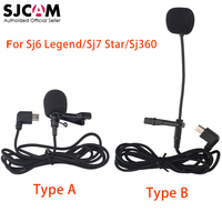 100 Original SJCAM Accessories Long External Microphone MIC For SJCAM SJ6 LEGEND SJ7 Star SJ360 Sports