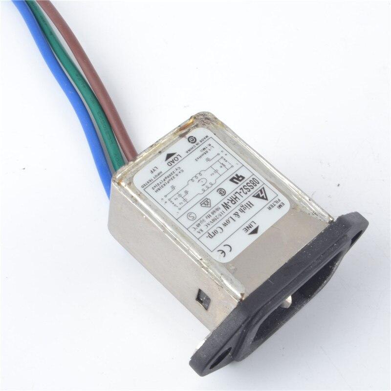 AC Power Entry Modules Single 250V 6A IEC Screw N//A-WIRE 10 pieces