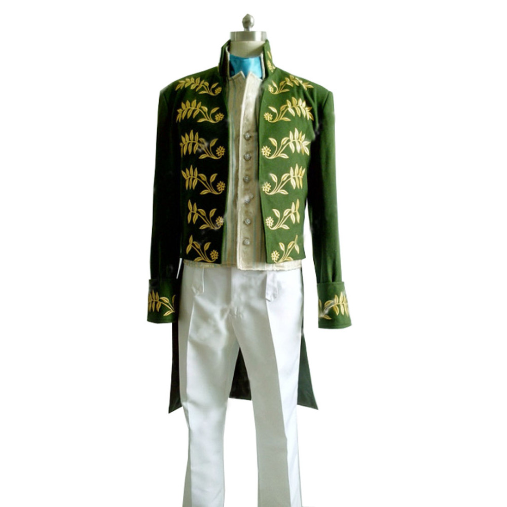 2016 Custom Made New Film Cinderella Dress Prince Charming Costume Suit Outfit Adult Men Party Cosplay Costume