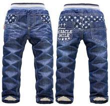 2017 new arrival warmth thick winter pants for Boys KK-Rabbit mannequin children boy jeans giant boys jeans retail