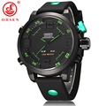 2017 New OHSEN Analog Digital LED Dual Time Mens Sports Watches Military Quartz Wrist Watch 5ATM Waterproofed 12-Month Guarantee
