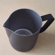 600 ml de espesor espresso taza de café taza jarra de leche jarra de metal de recubrimiento antiadherente de acero inoxidable coffee frothing jug perfecto