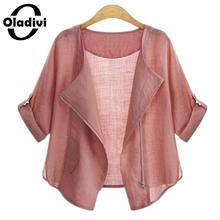 Oladivi 2018 Summer Fashion Plus Size Clothing Cardigans Casual Female Blouses and Shirts for Women Sun Protection Kimono Tops