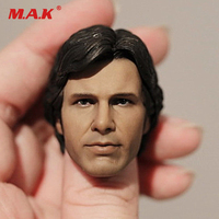 1:6 Scale Han Solo Head Sculpt Star Wars Figure Harrison Ford Head Carving for 12 inches Male Body Accessories