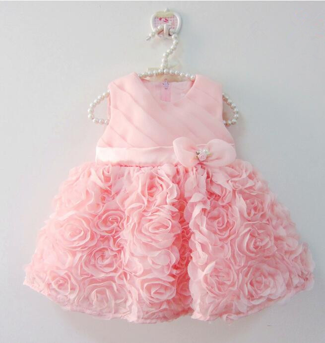 Top Quality Petal Lace Baby Girls Wedding Dress Christening Cake Dresses For Party Occasion Kids 1