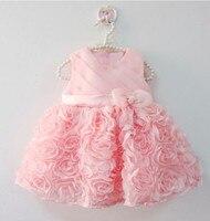 Одежда высшего качества лепесток Кружево платье для девочек-гостей на свадьбе крестины торт платья для праздника случаю детские 1 год для м...