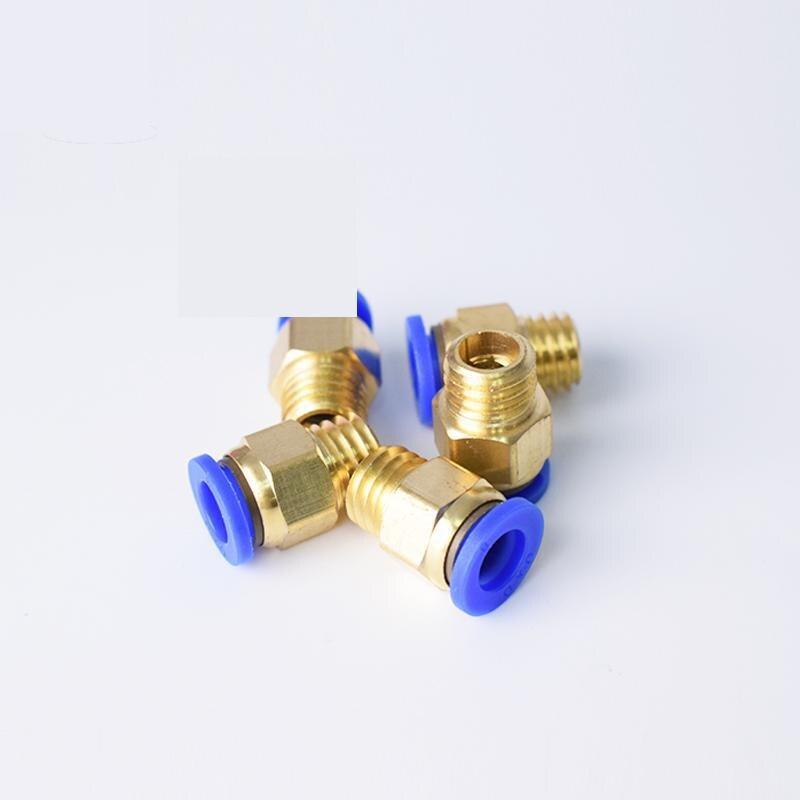 Connecteur à bouchon mâle pneumatique rapide   PC4 PC6 PC8 PC10 M5 M6 M8 M10 M12 M14 M16, moule Trachea connecteur à filetage externe métrique, filetage mâle