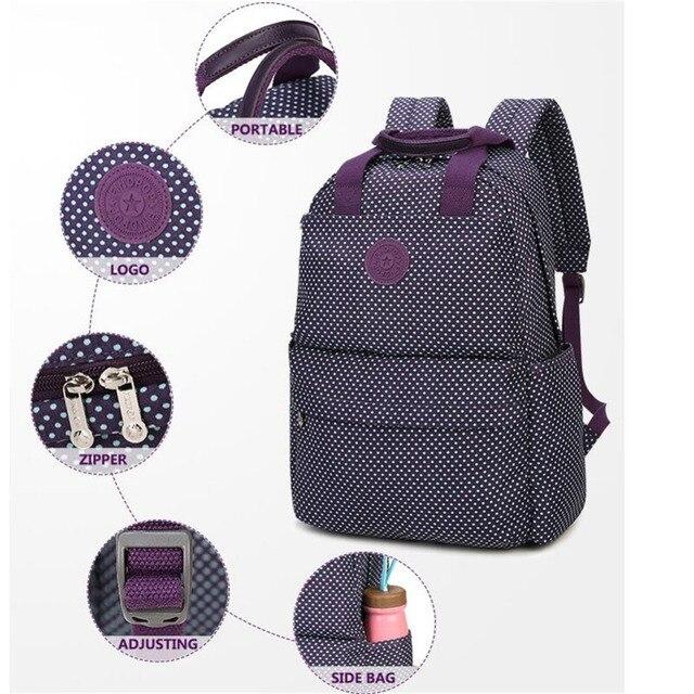 82c8f67f510d New Lady Backpack Nylon Waterproof Printing Backpack Student Bag Computer  Bag Women s School