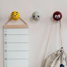 Dekorative Höhe Wachstum Chart Hängen Holz Rahmen Stoff Leinwand Höhe Messung Lineal für Kinder Höhe Rekord H1